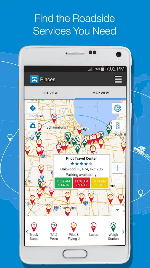 Trucker path pro truck stops android apps on google play for Truck design app