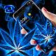 Weed Rasta Blue Burning Theme Download on Windows
