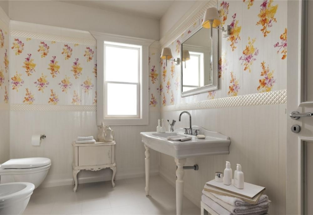 Chọn gạch có họa tiết hoa văn cho phòng tắm và nhà vệ sinh