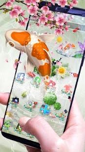 KOI Good Luck Fish Theme - náhled