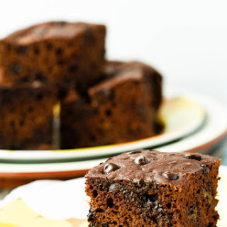 Healthy Chocolate Banana Snack Cake.