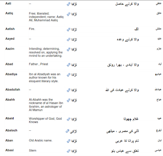 Islamic Names With Meaning Screenshot Thumbnail