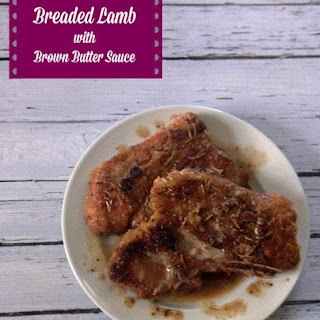 Breaded Lamb with Brown Butter Sauce
