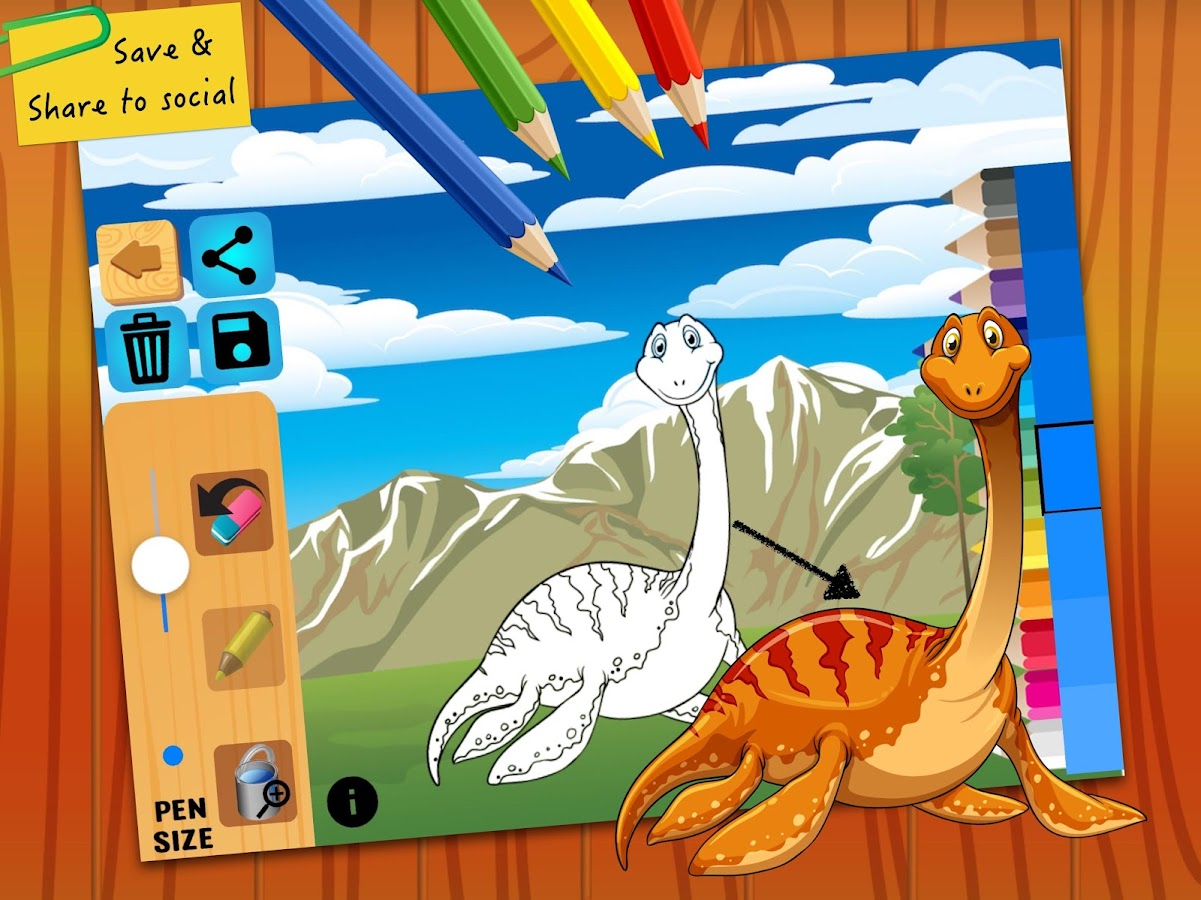 dinosaur coloring book pages android apps on google play