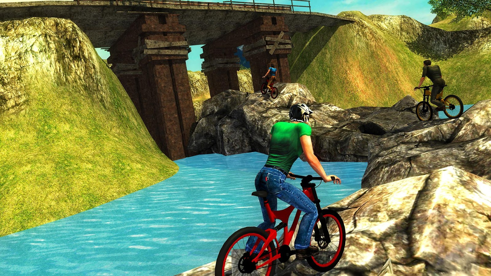 Uphill Offroad Bicycle Rider- screenshot
