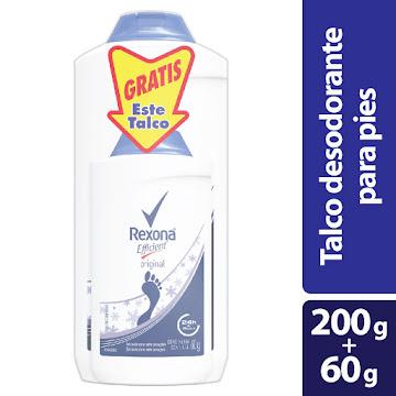 Oft Talco Pies Rexona Efficient 24h X200g. Gratis 60g. X2und