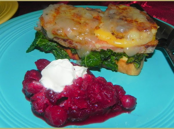 Toast your slices of bread. This is one decadent open face sandwich with your...
