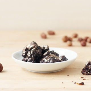 Dark Chocolate, Roasted Hazelnut, and Dried Cherry Bites