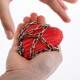 Heart in Chain by Turgay Koca - Artistic Objects Other Objects ( love, slave, chain, forbidden, captive, heart,  )