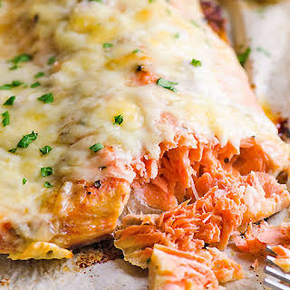 Baked Salmon with Cheese.