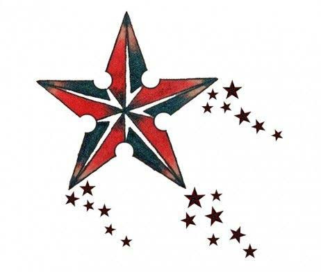 55 amazing nautical star tattoos with meanings for men and for Nautical star tattoo design