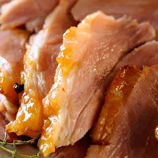 Oven Baked Ham with Apricot Glaze.