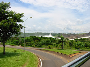 Photo: Mist from the spillway at Itaipu Binacional