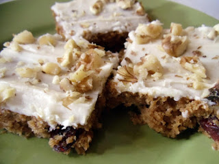 Stress Relief: Applesauce Bars Recipe