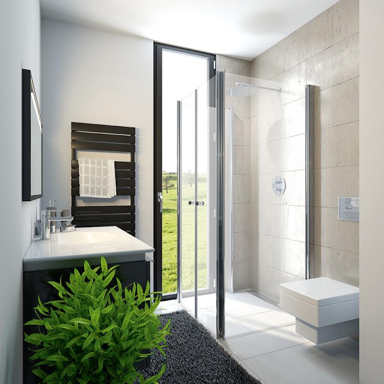 Duschkabinen_16 Exklusiv Profil Drehfalttuer Fensterloesung 1