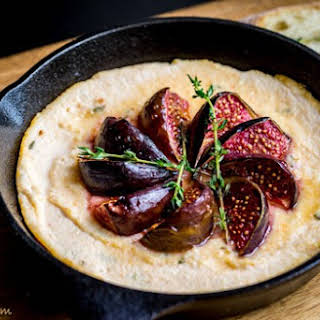 Baked Ricotta With Honey & Figs.
