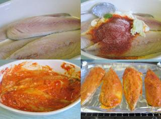 smear fillets of mackerel with marinade,cover and let it rest for about 2 hours.