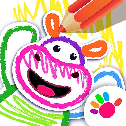 Учимся рисовать животных🤗 Детские игры для детей!