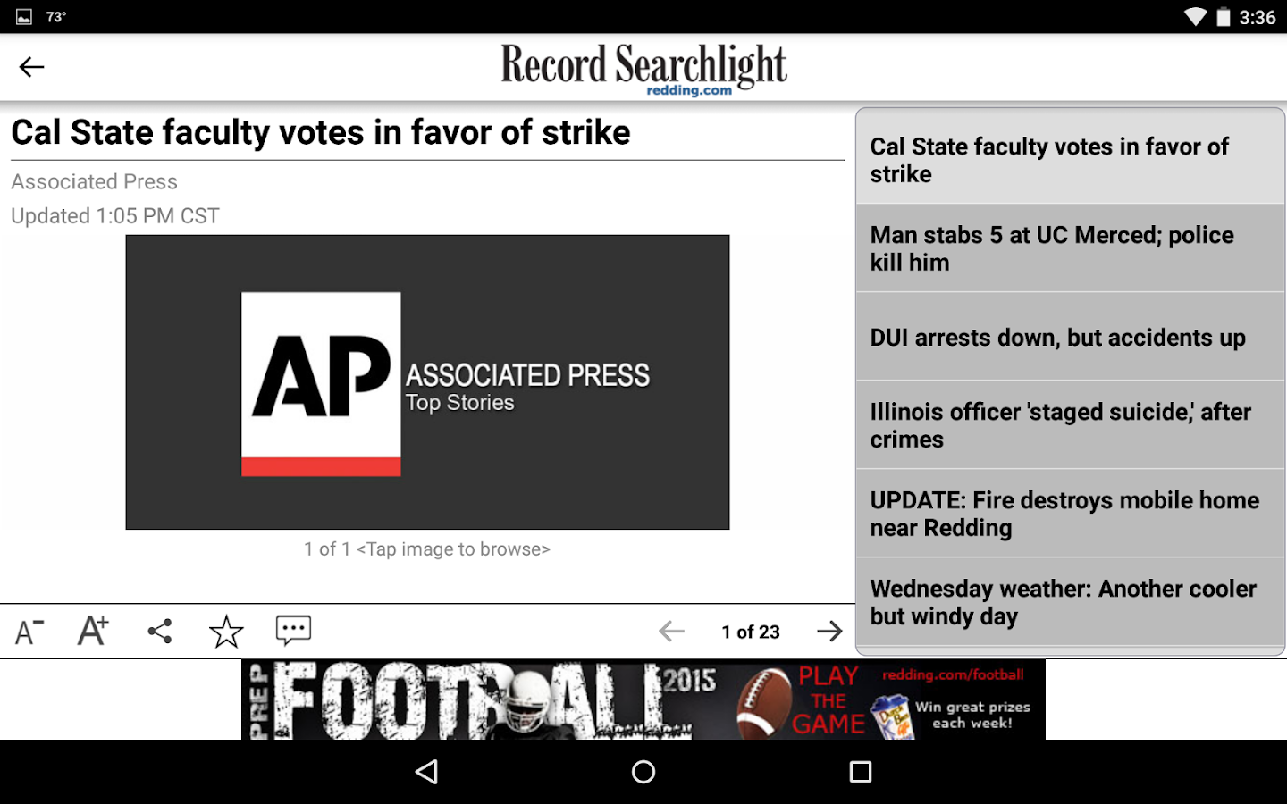 Redding Record Searchlight- screenshot