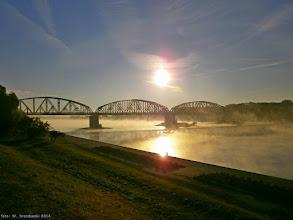 """Photo: """"Smoke on the Water"""" {szlak Toruń Główny - Toruń Miasto; 2014-09-24}"""