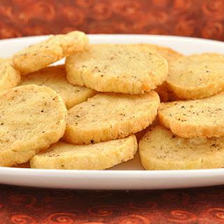 Parmesan-Pepper Shortbread Bites.