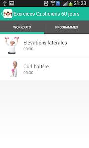 Exercices Quotidiens 90 jours screenshot 2