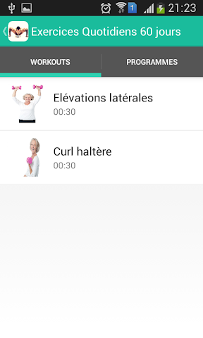 android Exercices Quotidiens 90 jours Screenshot 2
