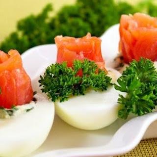 Eggs Stuffed With Salmon