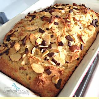 Vanilla Coconut Pound Cake with Dark Chocolate (Gluten Free).