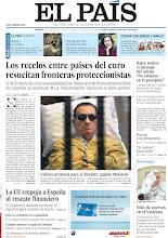 """Photo: Los recelos entre países del euro resucitan fronteras proteccionistas, Rajoy matiza el mensaje del miedo: """"No estamos en el precipicio"""", nido de cuervos en el Vaticano y cadena perpetua para el dictador egipcio Mubarak, entre los temas de nuestra portada del domingo 3 de junio de 2012. http://srv00.epimg.net/pdf/elpais/1aPagina/2012/06/ep-20120603.pdf"""