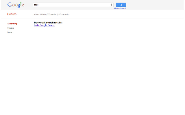 Search Chrome Bookmarks On Google