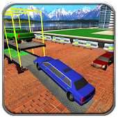 Transporter Truck Limo Car 3d