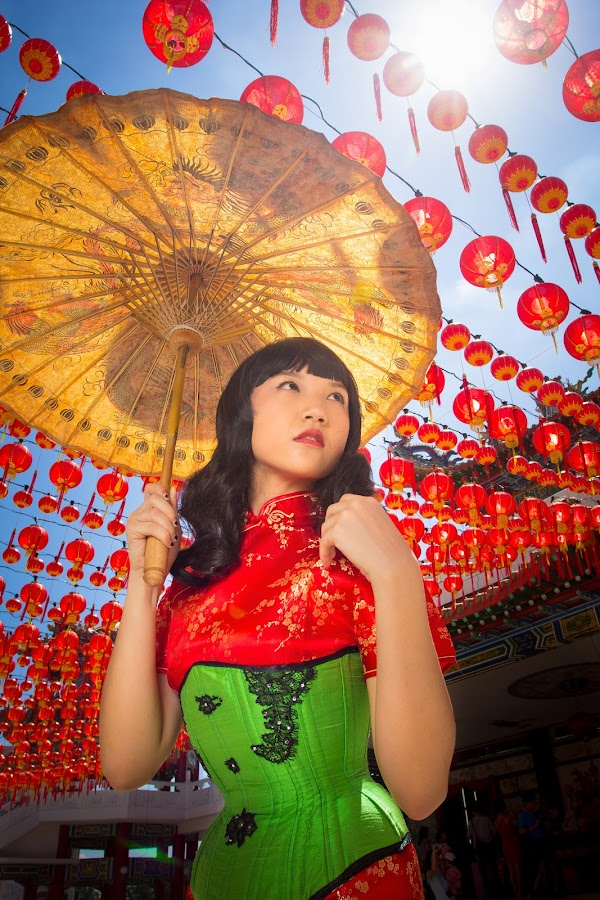 Corset + CheongSam by Melvin Khor - People Portraits of Women