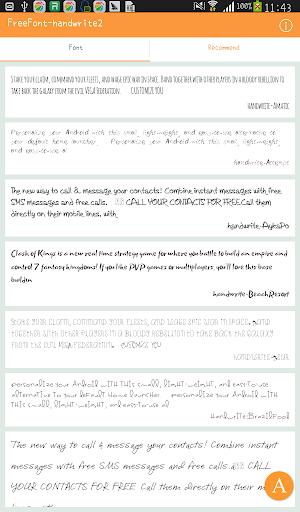 FreeFont - Handwrite 2