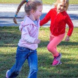 Running around by Joe Saladino - Babies & Children Children Candids ( running, children, playing, girls, park )
