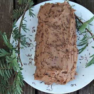 Low Carb Chocolate Yule Log.