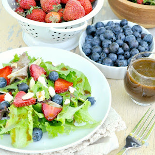 Red, White & Blueberry Salad with Maple Balsamic Vinaigrette