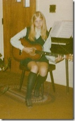 Crystal in guitar playing days