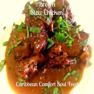 Trinidad Brown Stew Chicken.