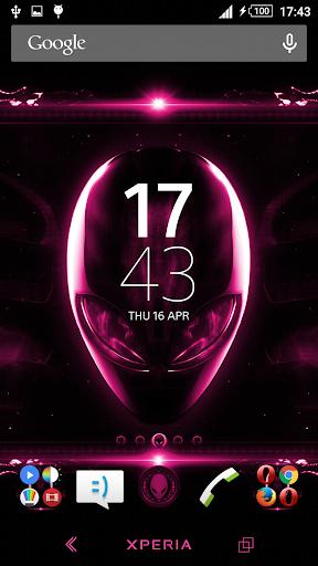 Alien Pink Xperien Theme