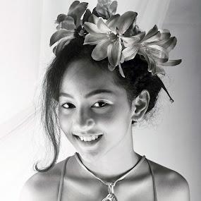 rindu by Alnia Furwani Maulina - Black & White Portraits & People (  )