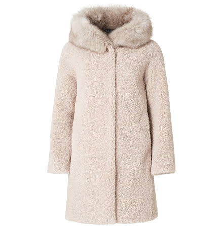 Joplin: Faux Fur, warm light grey
