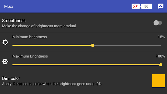 Screen Brightness Control Screenshot