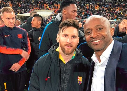 Arthur Mafokate got a selfie with Leo Messi.