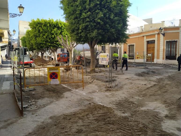 Plaza Careaga en pleno proceso de obras