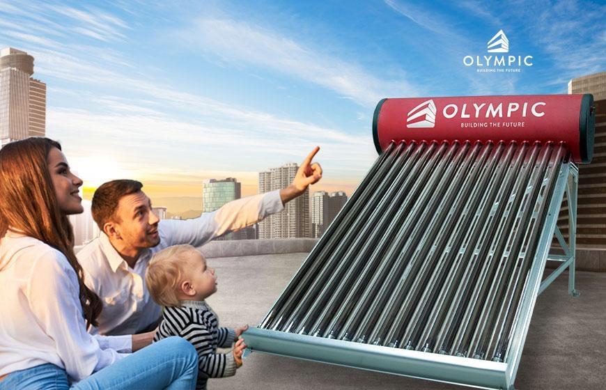 Máy nước nóng năng lượng mặt trời Olympic với tiêu chuẩn quốc tế