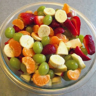 Holiday Side Dish Recipe a Healthy Fruit Salad.