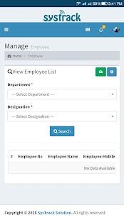 SysTrack HR - náhled