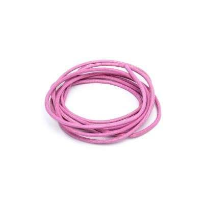 Läderrem, rosa 1 m 1,3 mm tjock