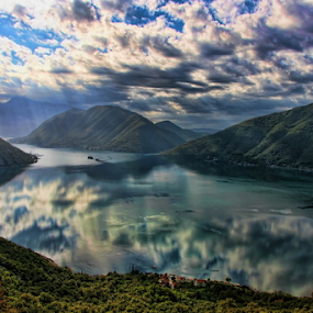 Baie de Kotor by Dominic Jacob - Landscapes Mountains & Hills ( montenegro, bay, sea, cloud, cloudy, kotor, seascape,  )